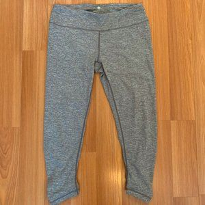 YOGALICIOUS GRAY CROPPED CINCHED LEGGING